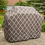 Great Bay Home Grill Cover Heavy-Duty, Waterproof Premium BBQ Gas Grill Cover for Medium Grills of All Brands. (Chocolate)