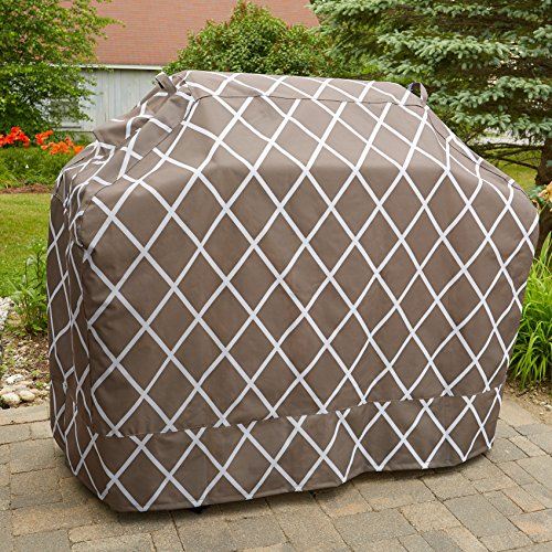 Great Bay Home Grill Cover Heavy-Duty, Waterproof Premium BBQ Gas Grill Cover for Medium Grills of All Brands. (Chocolate) by Great Bay Home