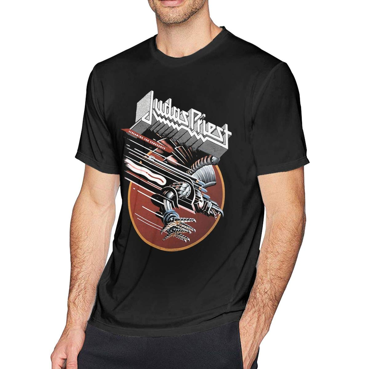 YouNood Mens Particular Judas Priest T Shirt Black