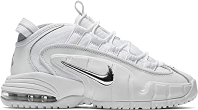 Nike Air Max Penny LE Youth Basketball Shoe White//Silver 315519-100 NEW GS Sizes