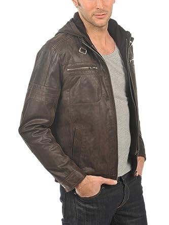 98f90b8469 Arturo - Blouson Cuir Homme Arturo NERO MARRON Taille Homme - 3XL, Couleur  - marron