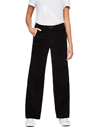 G-STAR RAW Damen Bronson High Wide Leg Chino  Amazon.de  Bekleidung 105dcb3a4f