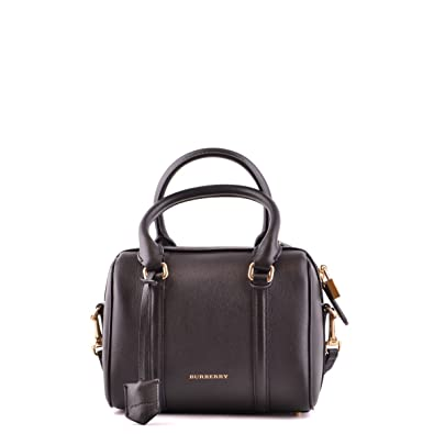 0d60c45ea0e Bowling Bags Burberry Women Leather Black and Gold 39259061 Black 12x16x21  cm: Amazon.co.uk: Clothing