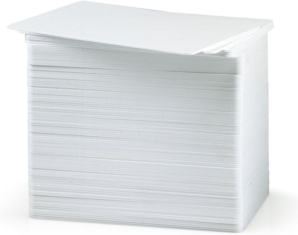 100Tarjetas plásticas PVC blancas (laminadas). Ideales para ser impresas. Tamaño CR80, tipo VISA