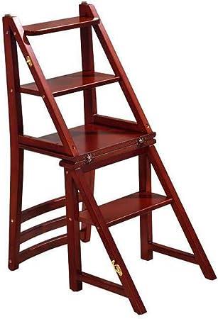 Taburetes Paso taburete, escalera deforme silla de madera maciza de múltiples funciones plegable escalera silla hogar escritorio silla jardín balcón escalera, teniendo alrededor de 200 kg: Amazon.es: Hogar