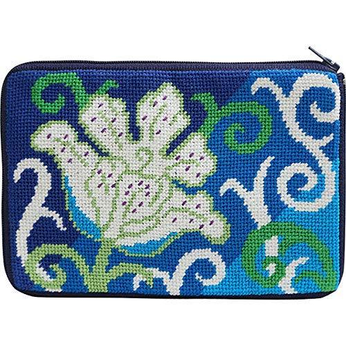 Stitch & Zip 608 White Tulip Cosmetic Case Needlepoint -