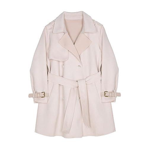 Piel rosada de invierno por debajo de la calidad de la cintura femenina chaqueta cortavientos de ade...