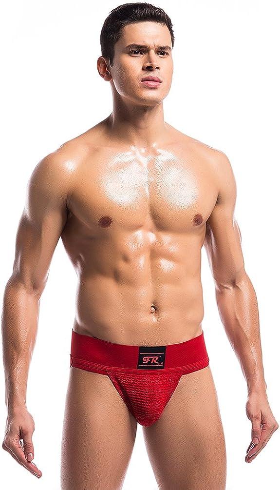 Uabrav Mens Sport Briefs Jock Strap Gym Athletic Supporter Bulge Pouch