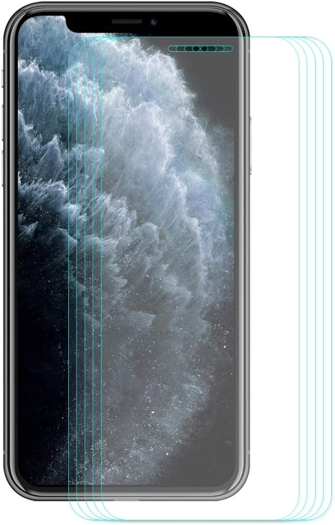 LGYD for for iPhone 11 Pro Max 5 PCS Hat-Prince 0.26mm 9H 2.5D Curved Edge Tempered Glass Film
