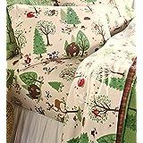 Queen Woodland Friends Flannel Sheet Set