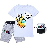HAULBOTV Among Us Unisex Imposter Game Estampado gráfico Camiseta Pantalones Cortos Gorra de béisbol Traje Deportivo…