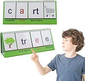 Desktop Blend Flips Educational Pocket Chart,Word Building Desktop Pocket Chart.Double Sided Desktop Pocket Chart
