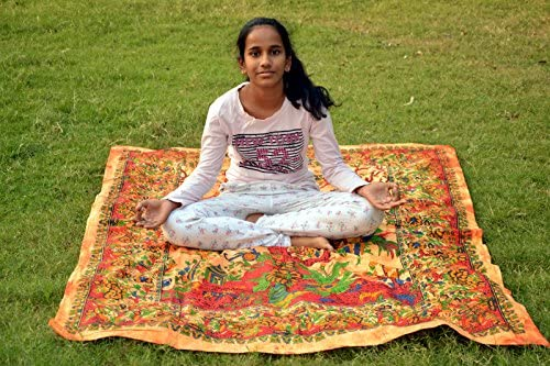 Sábana de yoga india para picnic, yoga, playa, pajarita ...