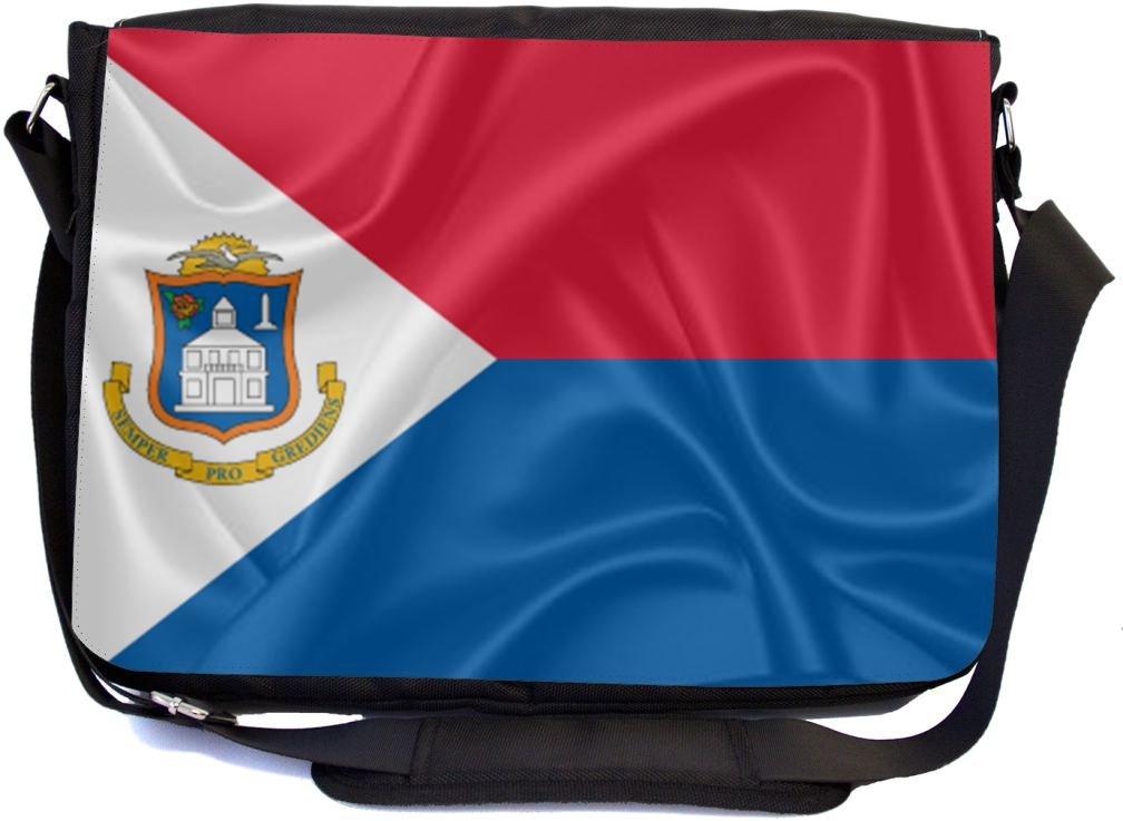 mbcp-cond2847 Rikki Knight Saint Maarten Flag Design Messenger School Bag