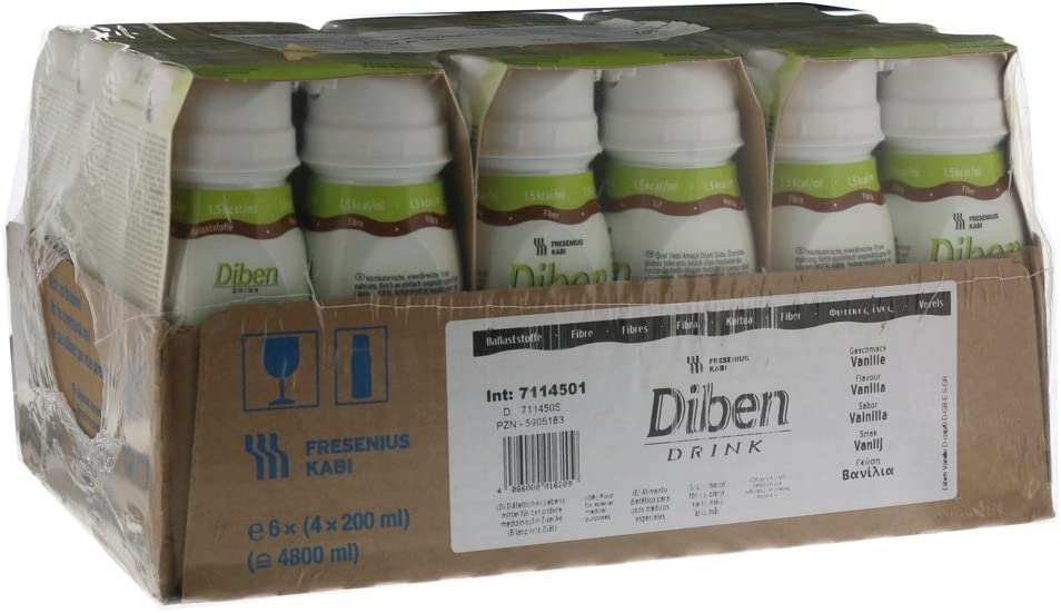 DIBEN DRINK VAINILLA 24X200 ML