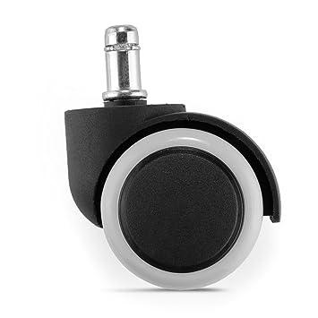 hsy® 5 X Silla de oficina Caster Wheels Set, Tipo de goma para sillas de ruedas Caster universal 11 / 50mm: Amazon.es: Hogar