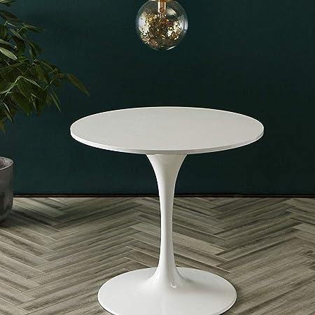 FUDIV 23.6 Pulgadas de diámetro Mesas de Centro Mesa de Centro Moderna para decoración de Muebles para Sala de Estar Balcón Mesa de Centro Decorativa para el hogar y la Oficina: Amazon.es: