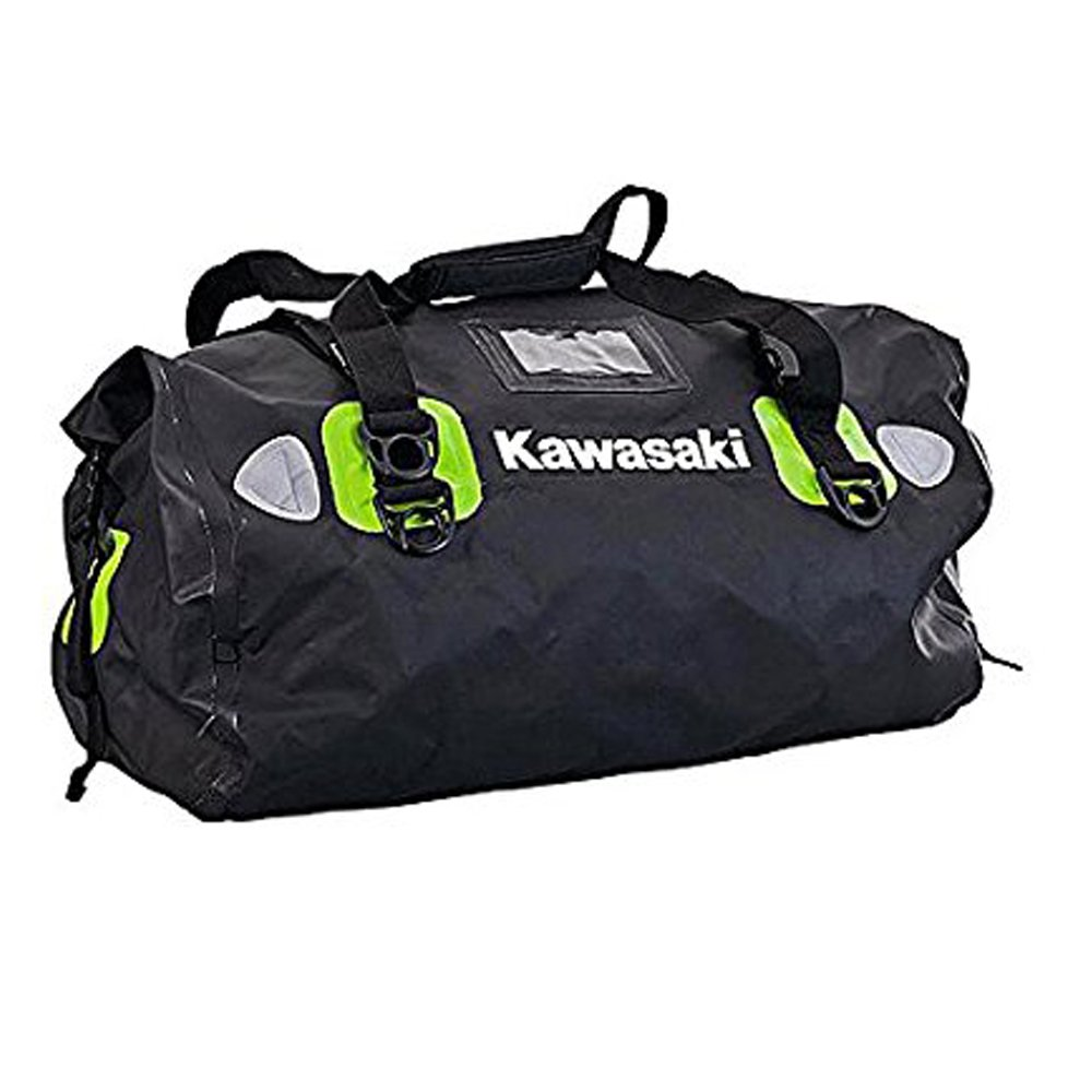 Kawasaki - Bolso de viaje Negro schwarz grün Mittelgross 35liter: Amazon.es: Equipaje