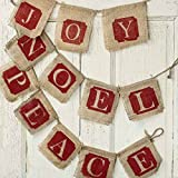 Factory Direct Craft® Group of 3 Rustic Christmas Burlap and Jute Hanging Banners for Holiday