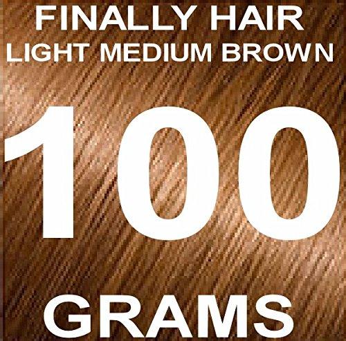 Finally Hair Building Fiber Refill 100 Grams Light Medium Brown Hair Loss Concealer by Finally Hair (Light Medium Brown - our lightest brown - Brown Hair Light Shades
