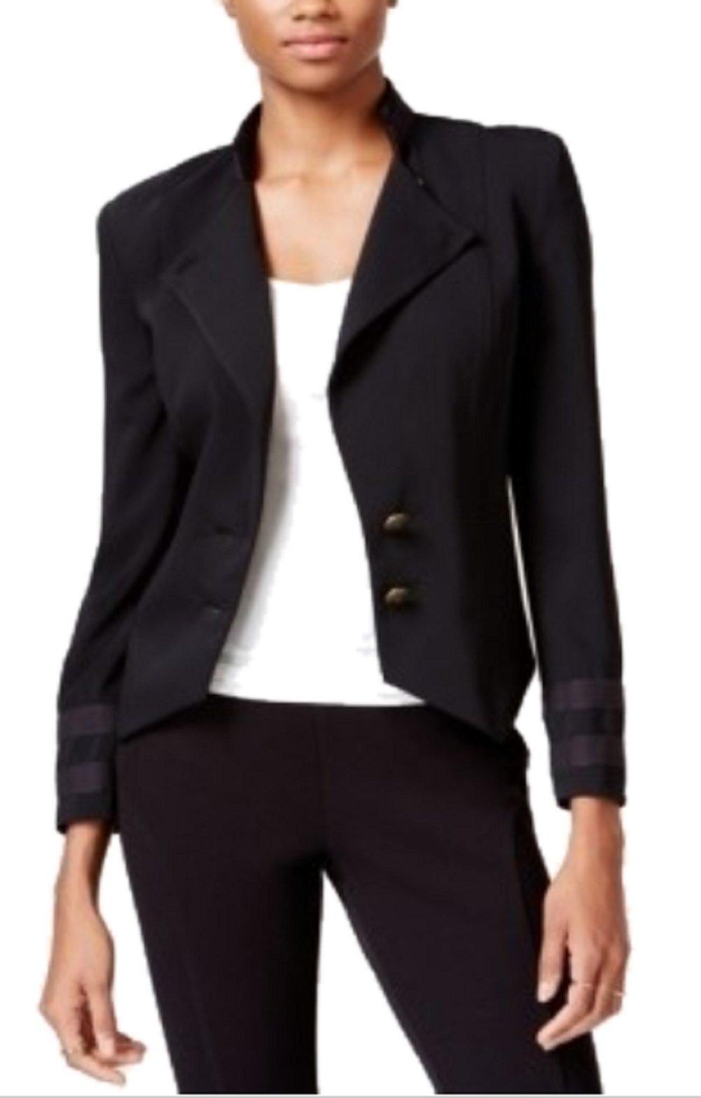 Rachel Roy Womens Black Wear To Work Jacket Color Black Size 8