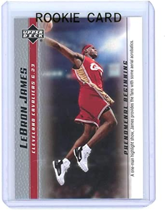 Amazon Com 2003 Upper Deck Phenomenal Beginning 13 Lebron James One Man Show Rookie Card Ships In A Brand New Holder Collectibles Fine Art
