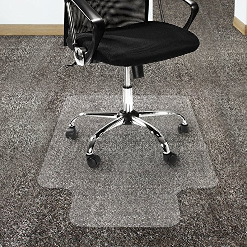 """Office Marshal Polycarbonate Chair Mat with Lip for High Pile Carpet Floors, 36"""" x 48"""" - Multiple Sizes - Clear, Studded, Carpet Floor Protection Mat -  4058171085872"""