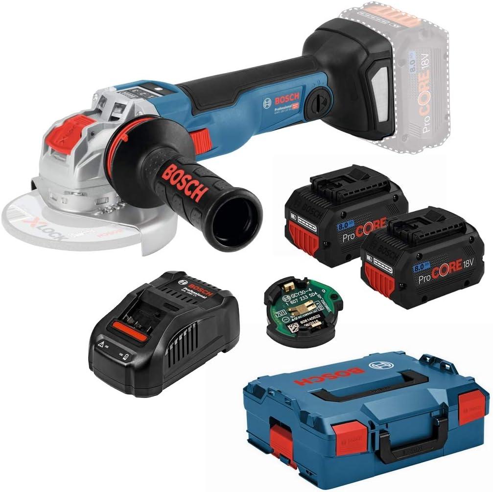 Bosch 06017B0401 X-Lock GWX 18V-10 SC Professional 06017B0401-Amoladora de ángulo, 18 V, Color, Size