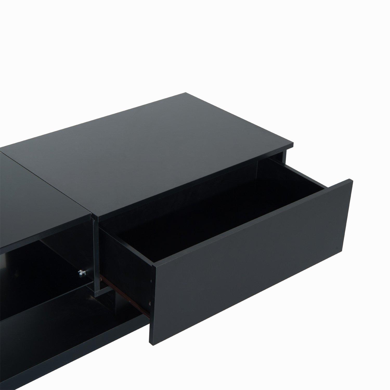HomCom 51'' Modern TV Stand Media Center - Black by Overstock (Image #4)