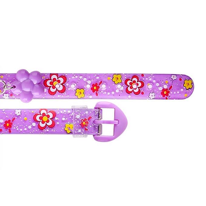 Amazon.com : Silicone Digital Wristwatch Novelty Flower Design Wrist Watch Cartoon Watches Kids Girls Cute Cartoon Children Watches Boys Girls Gift(purple) ...