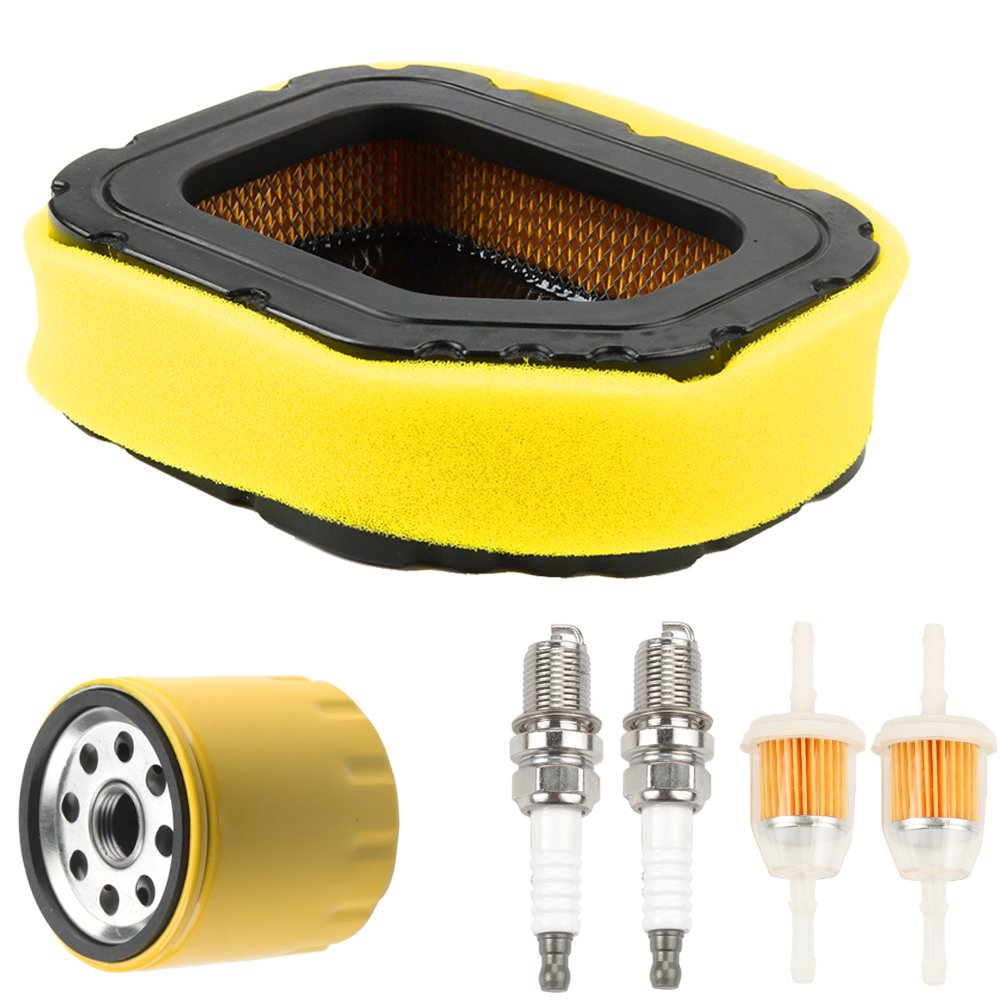Mckin 32 083 03-S 32 883 03-S1 Air Filter with 52 050 02-S Oil Filter 25 050 03-S Fuel Filter Spark Plug Tune Kit for Kohler SV710 SV715 SV720 SV730 SV735 and SV740 Lawn Mower