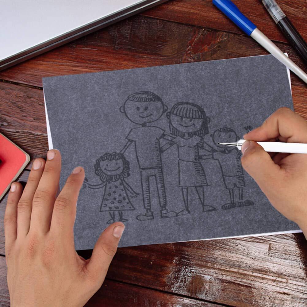 Selizo Lot de 150/papier calque et carbone Graphite papier pour transfert de gravure sur bois Sculpture sur bois et tra/çage
