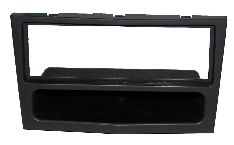 AERZETIX Marco adaptador para radio de coche 1DIN Color negro mate