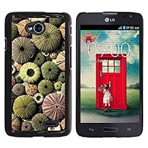 Be Good Phone Accessory // Dura Cáscara cubierta Protectora Caso Carcasa Funda de Protección para LG Optimus L70 / LS620 / D325 / MS323 // Desert Pattern Plant Green Sun