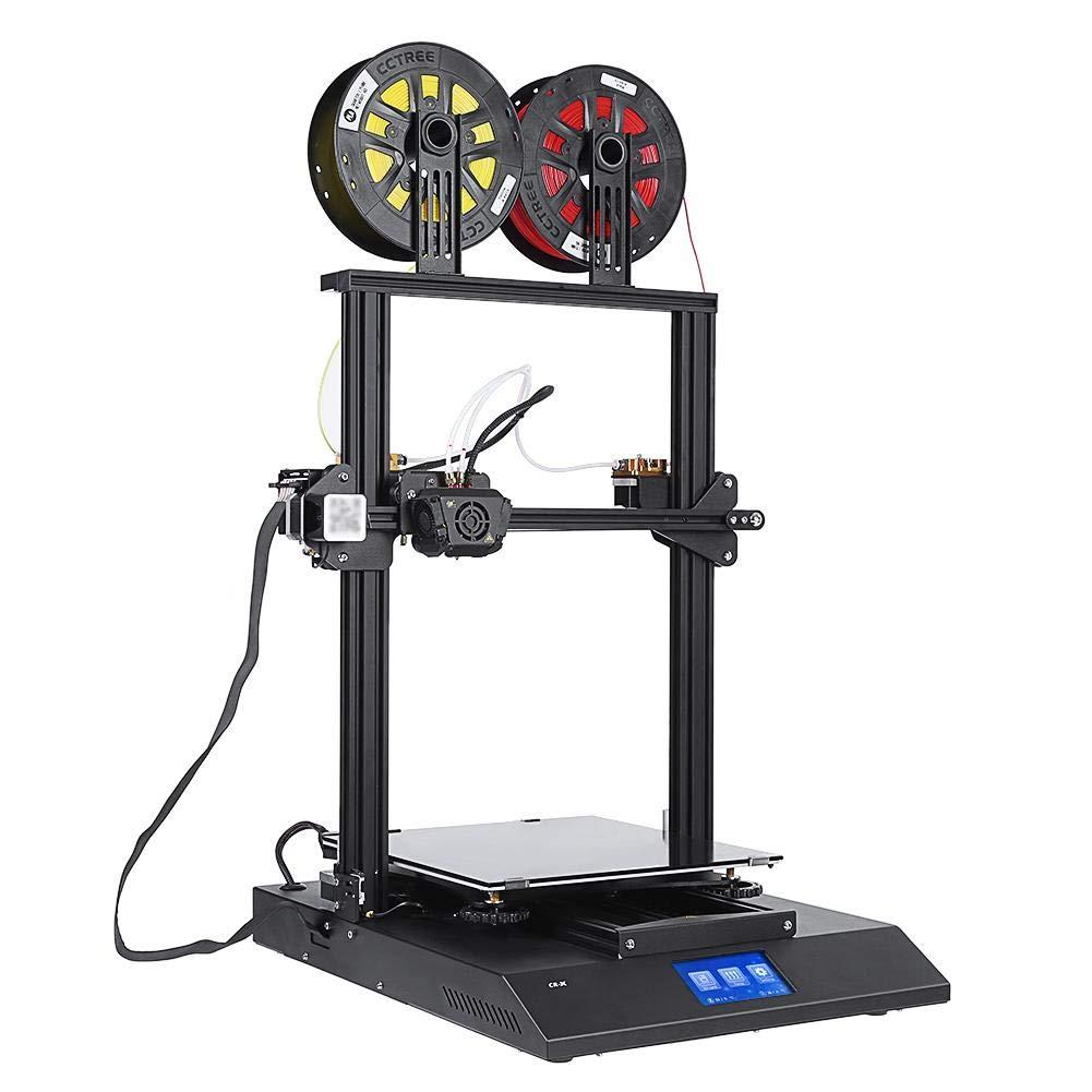 Zerone Impresora 3D de Doble Color Impresora 3D Kit Bricolaje 4.3 ...