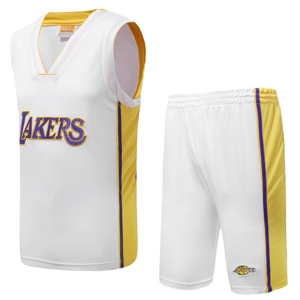 BUY-TO NBA Lakers Jersey Basketball-Uniform Genähte Herren Shorts