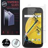 VCOMP® 1 Film Vitre Verre Trempé de protection d'écran pour Motorola Moto E (2nd Gen)/ Moto E2 E+1 XT1505/ XT1524/ Moto E Dual SIM (2nd gen)/ 3G XT1506/ 4G LTE XT1521 - TRANSPARENT