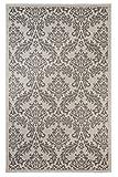 "Cheap Outdoor Mats Flatweave Indoor Outdoor Rugs with Contemporary Grandeur Design Area Rugs Patio Rug Flooring Carpets 9×12 (8'10""x11'9"", Gray)"