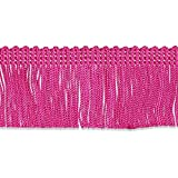 Decorative Trimmings 100% Rayon Chainette Fringe, 2'' x 9 yd, Fuchsia