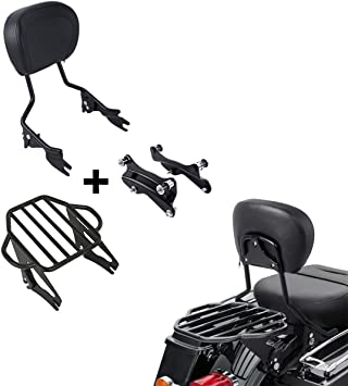 Detachable Sissy Bar Luggage Rack Docking Kit For Harley Touring Models 2014-Up