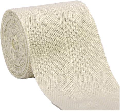 VVFi - Cinta de sarga de algodón de 45,7 metros para coser y proyectos de manualidades: Amazon.es: Hogar