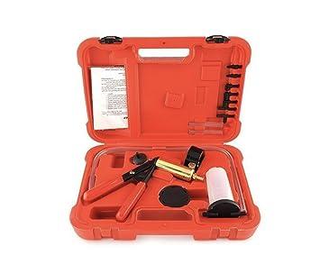 MVPower - Bomba de depresión, purga de líquido de frenos, comprobador de vacío para coche, herramienta manual, maletín rojo: Amazon.es: Coche y moto