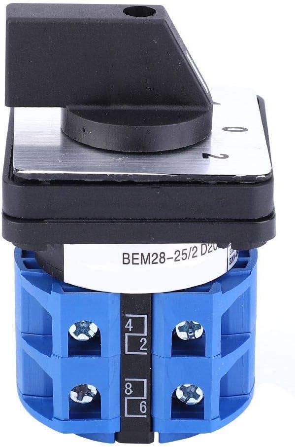 BEM28-25//2 C04 Interruptor de cambio Selector de 2 posiciones Interruptor de leva giratoria 690V 25A