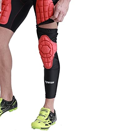c9c4eea830 Amazon.com : FIRIK Sports Protective Compression Knee Pads Leg Sleeve  Support Guard Protector For football, basketball, rugby, soccer, paintball  -1 piece ...