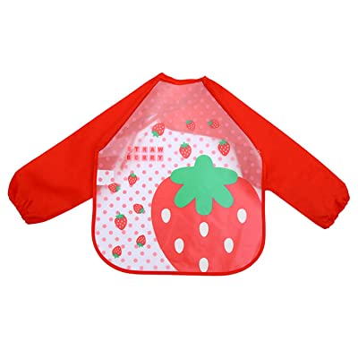 KUUQA Waterproof Children Art Smock Kids Aprons Long Sleeve Bib and Play Smock Apron for Painting, Baking, Cooking: Toys & Games