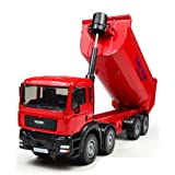 Hugine Alloy 1:50 Scale Die Cast Dump Truck Tipping Wagon Transport Car Pull Back Lorry Freight Car Model Toy Red