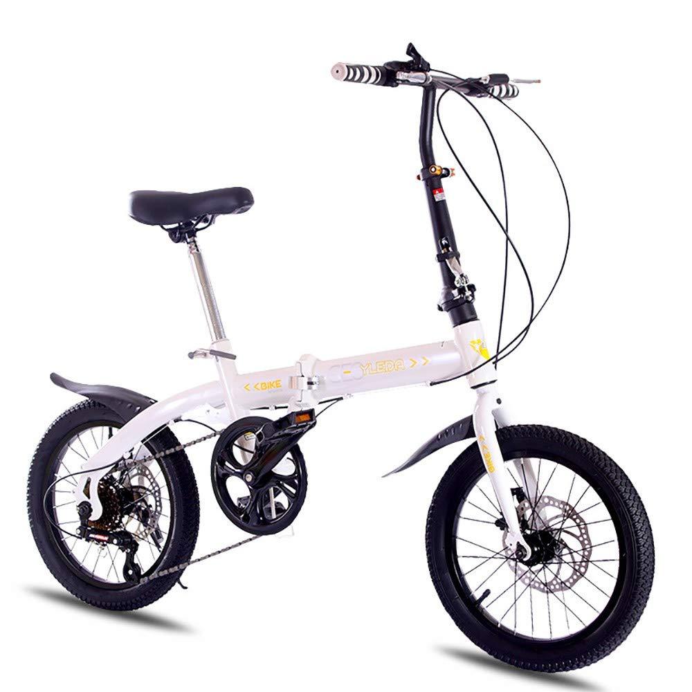 ZXCTTBD Compacto Bicicleta Plegable,20 Pulgadas de 6 ...