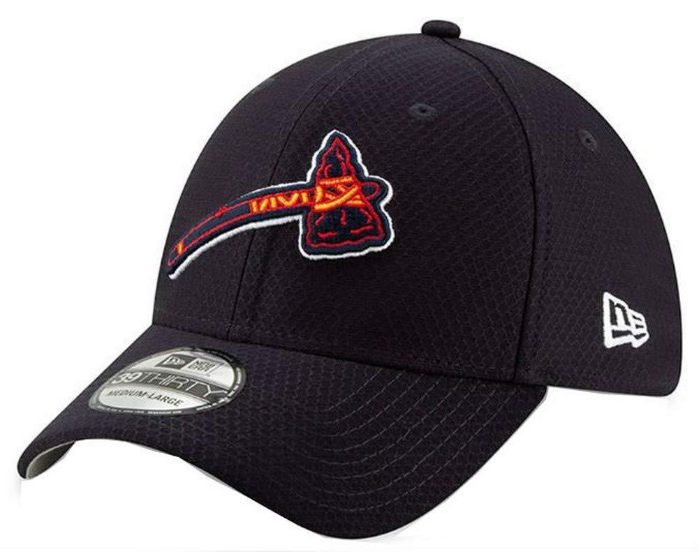 New Era 2019 MLB Atlanta Braves Bat Practice Home Hat Cap 39Thirty 3930 (S/M) Navy