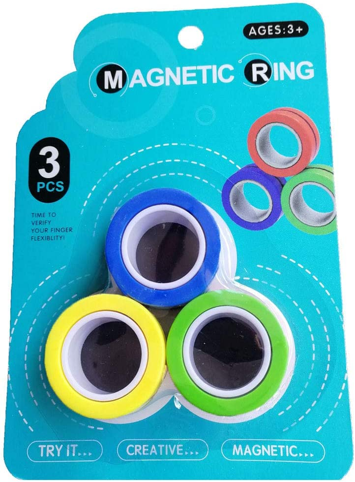 Colorful Unzip Finger Game Finger Toy Blue Magnetic Bracelet Ring Unzip Toy Magical Ring Props Tools J-hong Magnetic Rings Toys