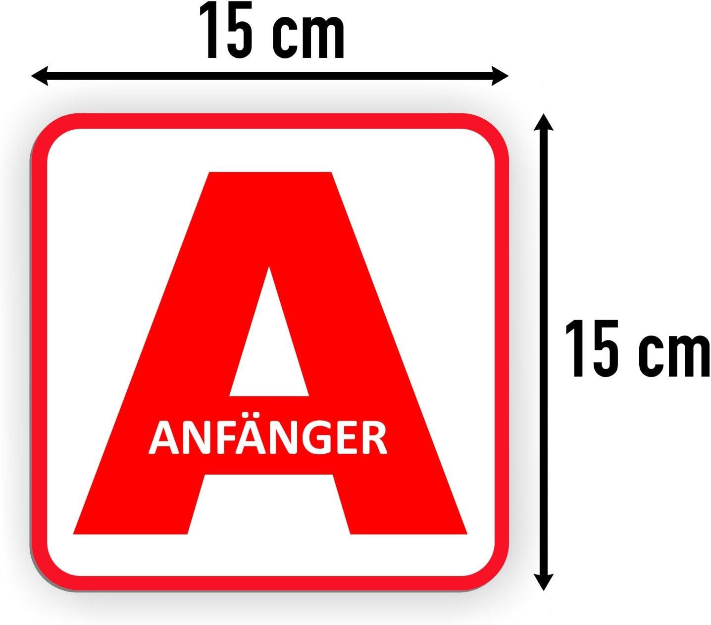 Lohofol Auto Magnetschild Anfänger Schild Magnetisch Für Fahranfänger 15 X 15 Cm Auto